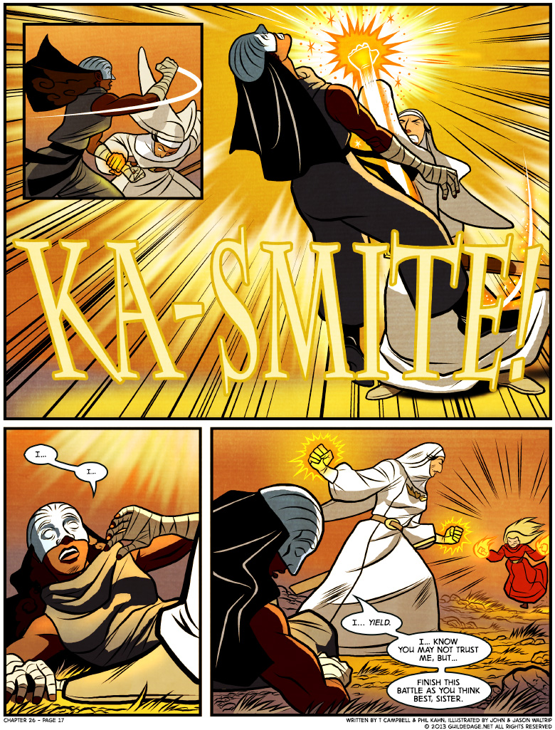 I'm just gonna put it out there: I really want a side-scrolling brawler starring the four Guildies in this chapter.