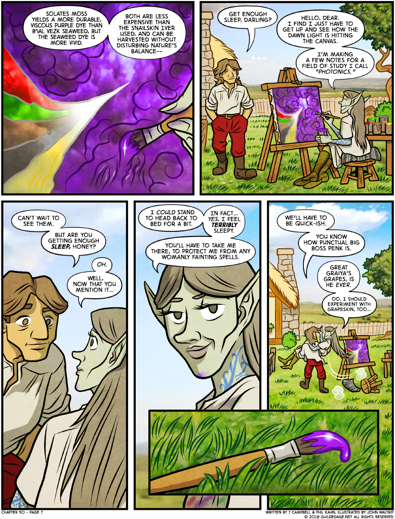 Careful, Byron... a 'quickie' in Elven time is like three months.