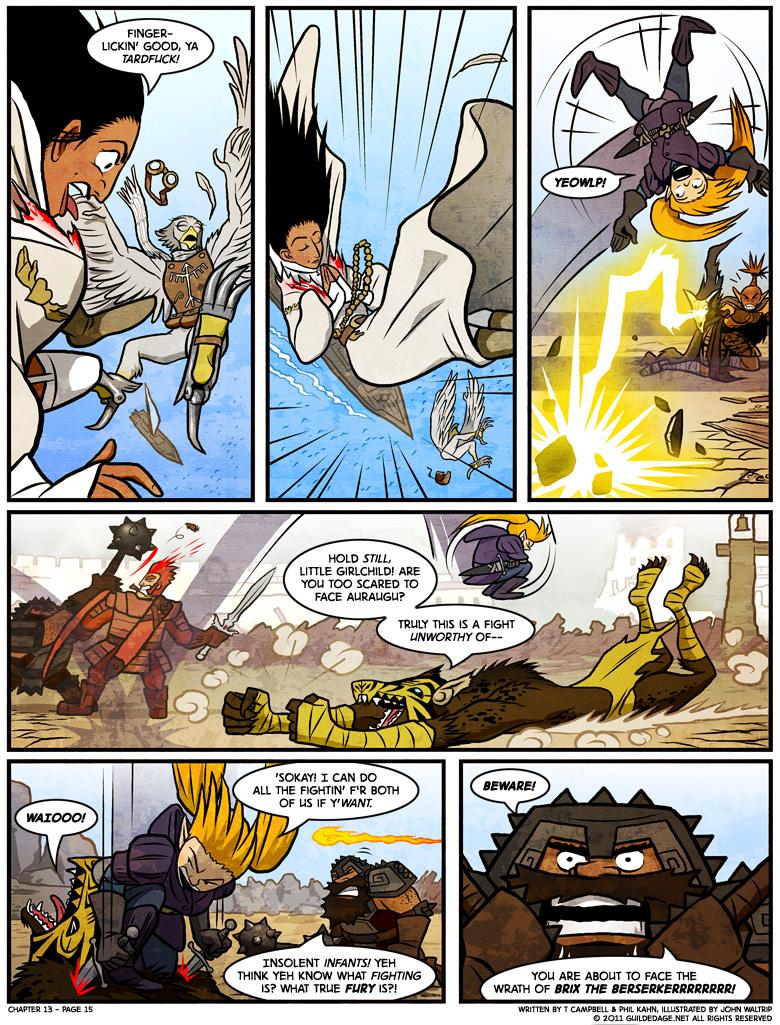 Even if Bandit does all the fighting herself, Auraugu will still shoulder the burden.